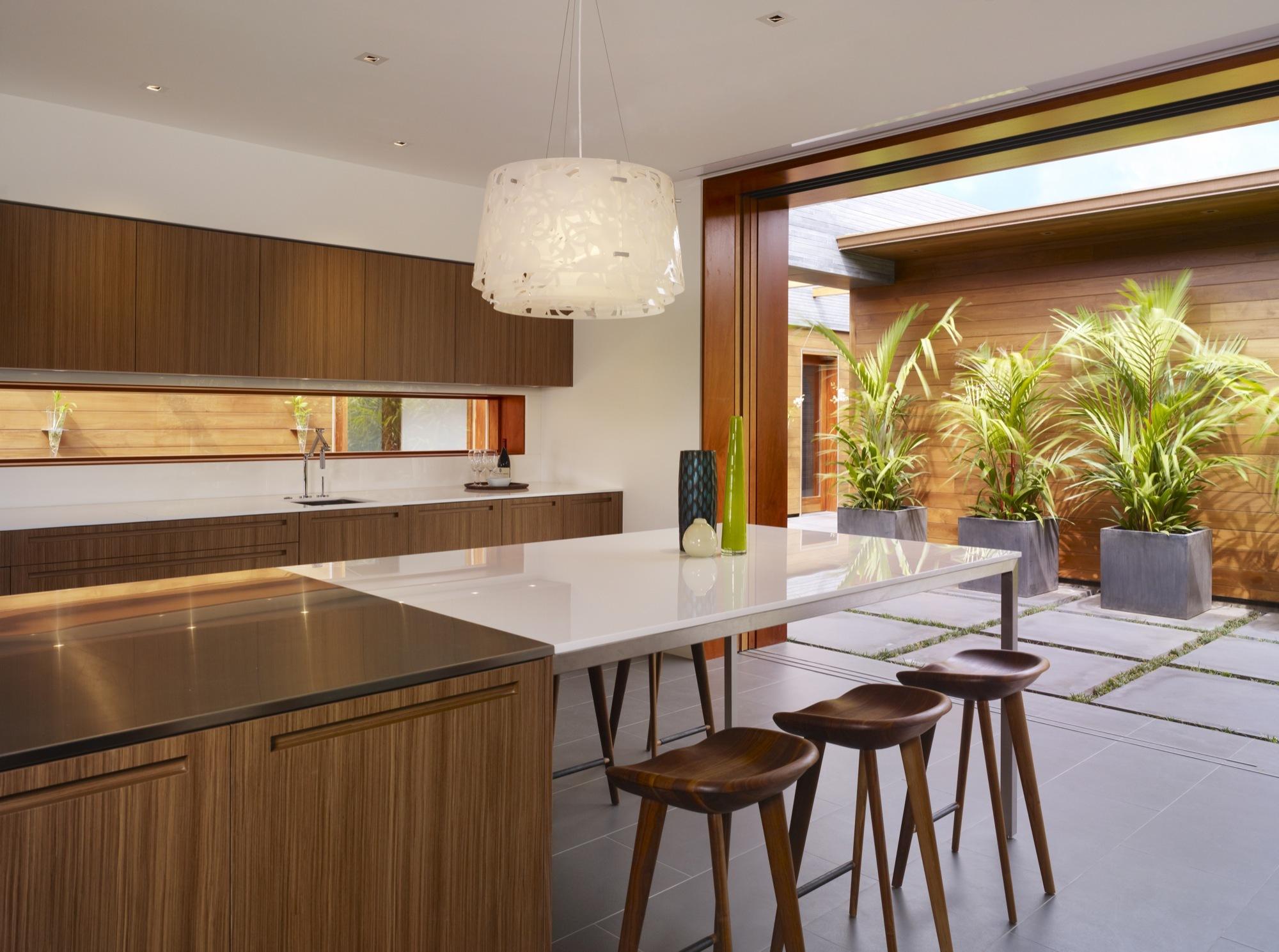 Kona Residence, Belzberg Arquitects, Hawaï, Cuisine