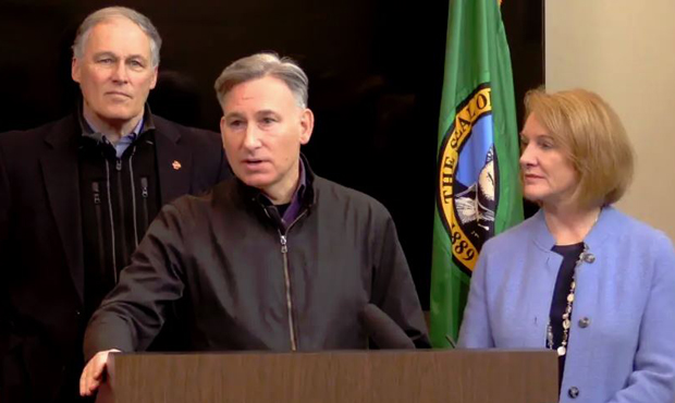 Jay Inslee, Dow Constantine, and Jenny Durkan. (King County)