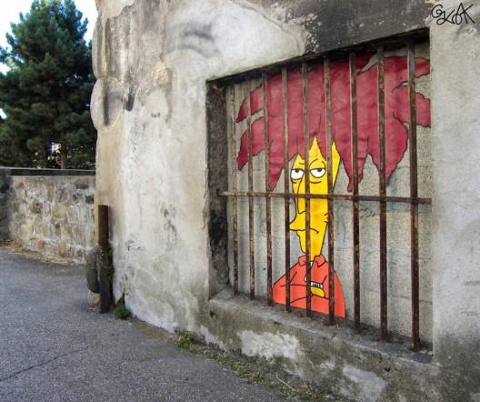 por Oakoak en Oakoak in Saint Etienne Francia