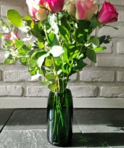 """les vases """"champés"""". Verts"""