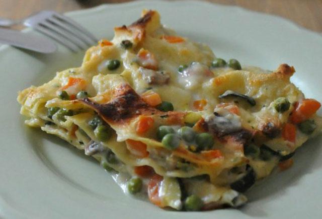 Lasagnes de légumes.
