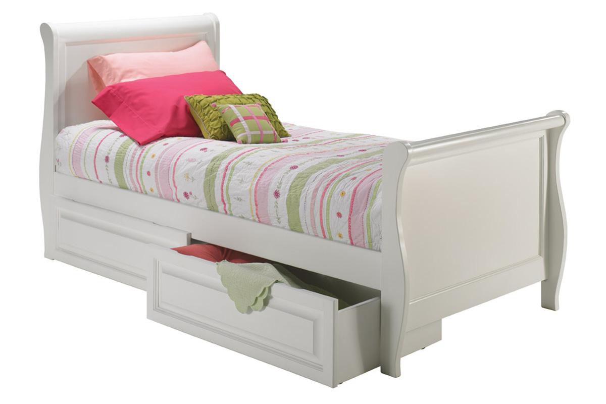 Sleigh Platform Bed Matching Footboard