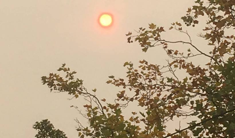 red sun, hurricane ophelia