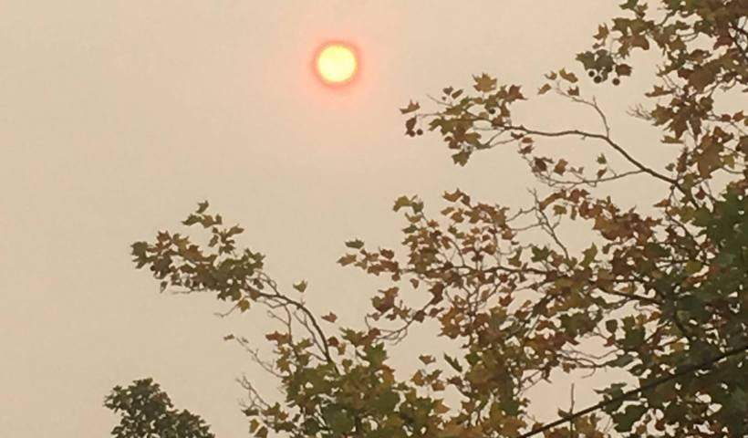 red sun, hurricane ophelia