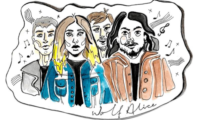 illustration wolf alice music