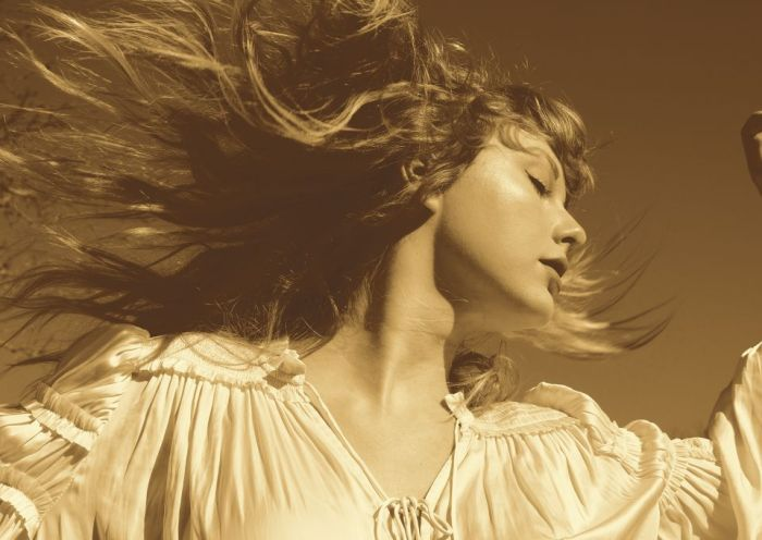 The cover of Fearless (Taylor's Version), which was released on April 9
