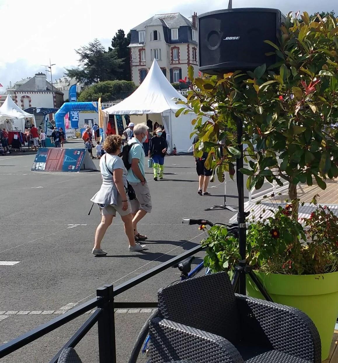 Sonorisation du village départ de la Solitaire de la Figaro 2020 à Saint-Quay