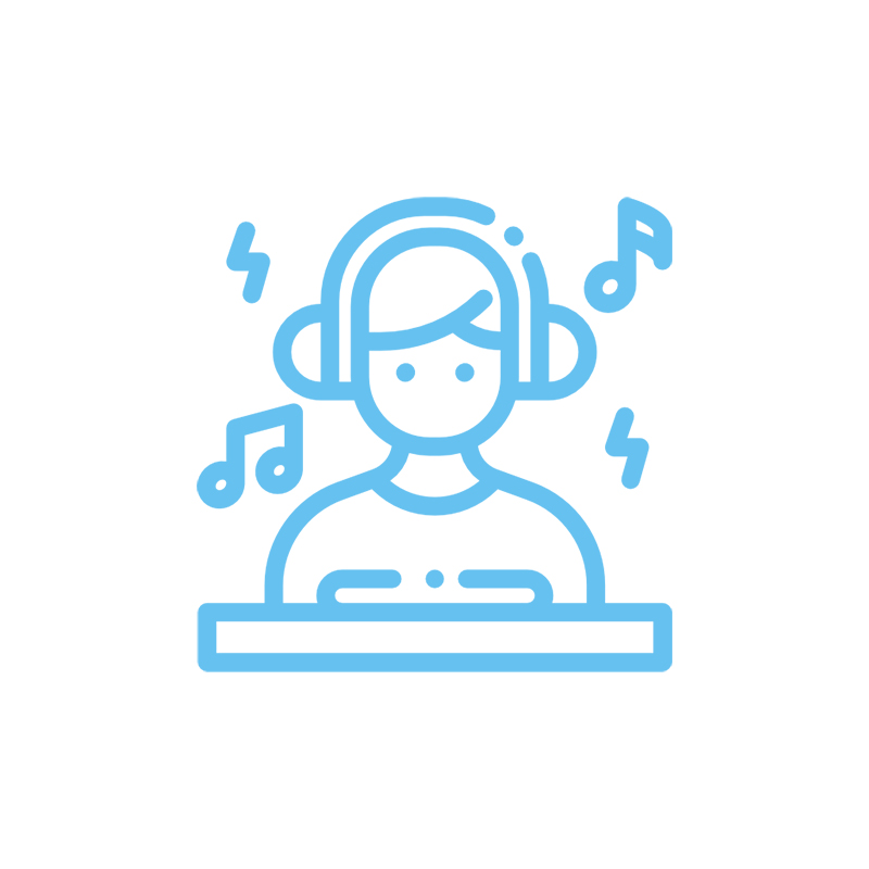 DJ – Turntable – EDM – Electronic Dance Music – Rave Club Manche Longue