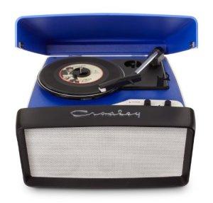 Crosley Collegiate Platine Vinyle Tourne-Disque Compatible USB (Prise UK) – Bleu