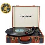 Lauson Lecteur Platine Vinyle Bluetooth   Tourne Disque   USB   Mp3   RCA   Trois Vitesse 33/45/78 avec Haut-Parleur Intégré   CL605 (Marron)