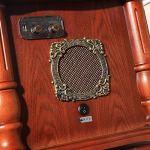 GOM Platine Vinyle, Vintage Phonographe Conversion avec Trois Vitesses 33/45/78 Tours Soutien Lecture Bluetooth Lecture de CD Sorties RCA GOM-003 (Couleur : Brown, Taille : 47cm*40cm*170cm)