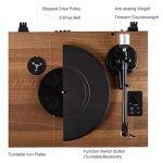 Tourne-Disque Bluetooth avec Système Hi-FI Intégré et Enceintes d'Etagère 36 Watts, Lecteur de Vynile avec Cartouche Magnétique