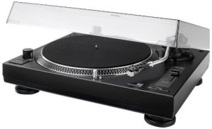 Dual DTJ Tourne-disque DJ USB, système de tête magnétique, aiguille Pitch (33/45tours/min, éclairage, USB) Entraînement direct avec fonction DJ (Noir) Noir