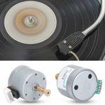 banapo Phono argenté, Accessoires de phonographe Professionnels 2 NM, métal de Haute qualité Facile à Installer pour phonographe 6-12 V Tourne-Disque Vinyle