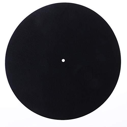 Abwan Tapis antidérapant pour platine vinyle Audiophile 7″ 3 mm feutre anti-statique
