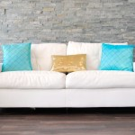 White Leather Plush Sofa Decorative Pillows Not Included Platinum Event Rentals