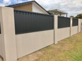 Modular Fence with colorbond panels