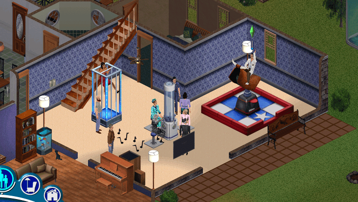 Bella and Mortimer Goth are partying it up in their house!