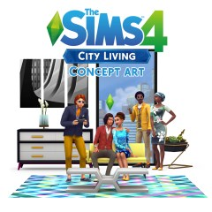 The Sims 4 City Living – concept art
