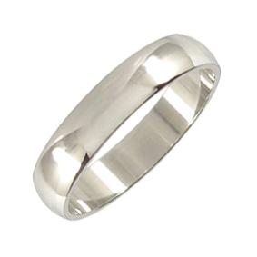 Platinum Wedding Ring Rounded - Polished - 5mm