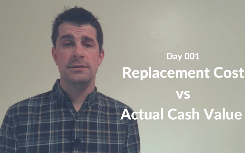 Replacement Cost vs Actual Cash Value