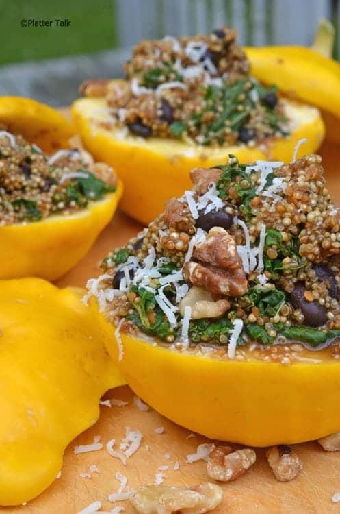 quinoa and starburst squash