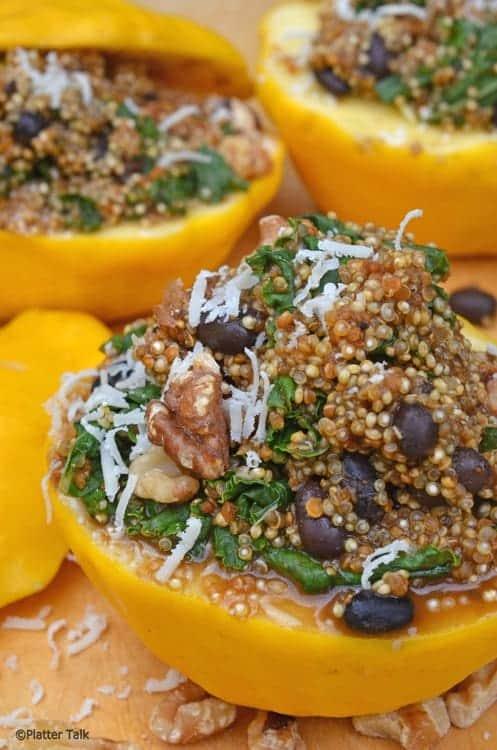 starburst squash and quinoa