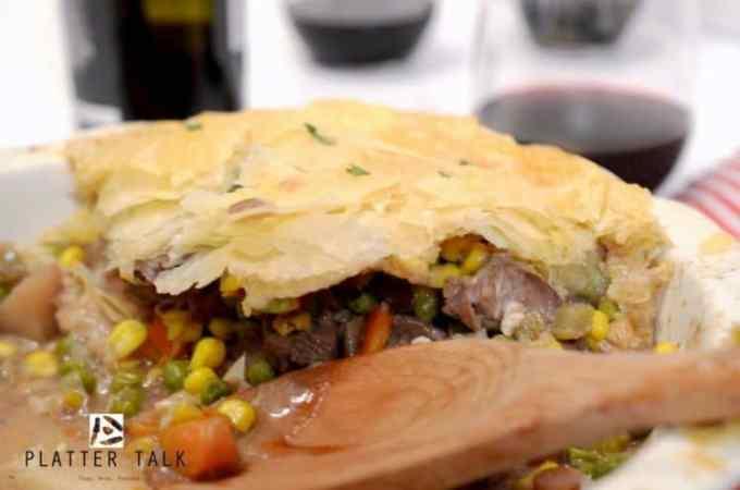 Leftover Beef Pot Pie uses leftover prime rib.