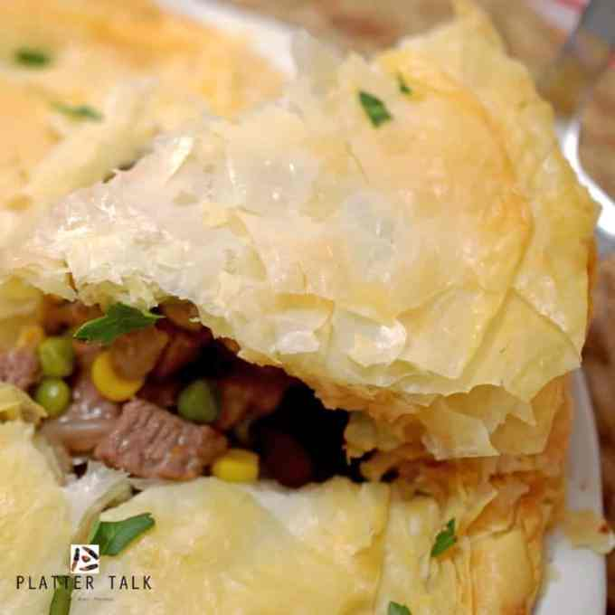 This lefotver roast beef recipe uses phyllo dough.