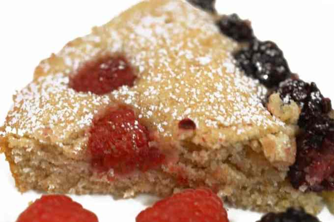 Red White & Blue Buckwheat Berry Cake Recipe from Platter Talk