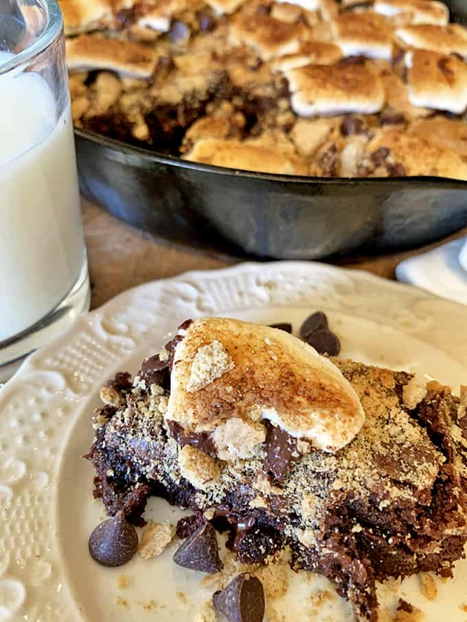 Ghiradelli Brownie Recipe made into s'mores brownies