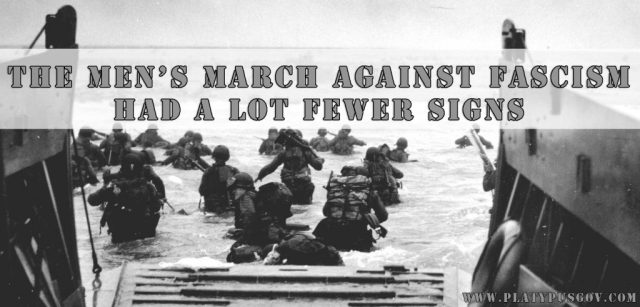 D-day men's march