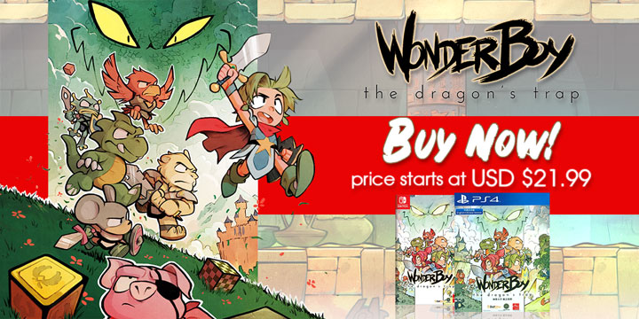 Play-Asia.com, Wonder Boy: The Dragon's Trap, Wonder Boy: The Dragon's Trap US, Wonder Boy: The Dragon's Trap Europe, Wonder Boy: The Dragon's Trap PlayStation 4, Wonder Boy: The Dragon's Trap Nintendo Switch, Wonder Boy: The Dragon's Trap gameplay, Wonder Boy: The Dragon's Trap release date, Wonder Boy: The Dragon's Trap price, Wonder Boy: The Dragon's Trap features