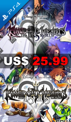 KINGDOM HEARTS HD I.5 + II.5 REMIX Square Enix