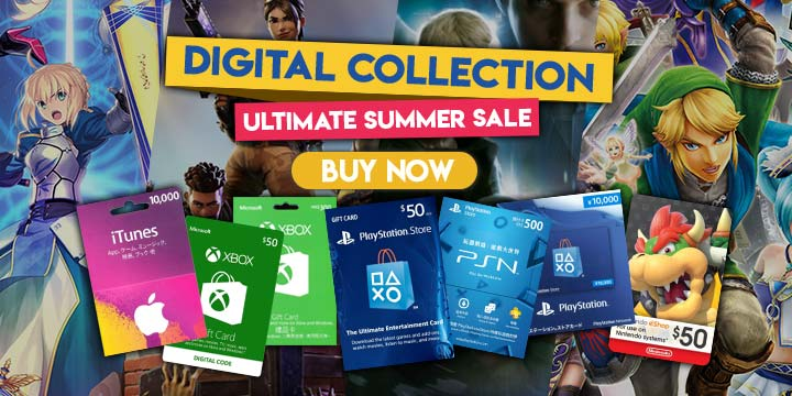 Play-Asia.com, Digital Summer Sale 2018, PSN Card, XBOX Gift Card, Digital Codes, The Caligula Effect, Detroit become Human, Fortnite Battle Royale, Hyrule Warriors, State Of Decay 2