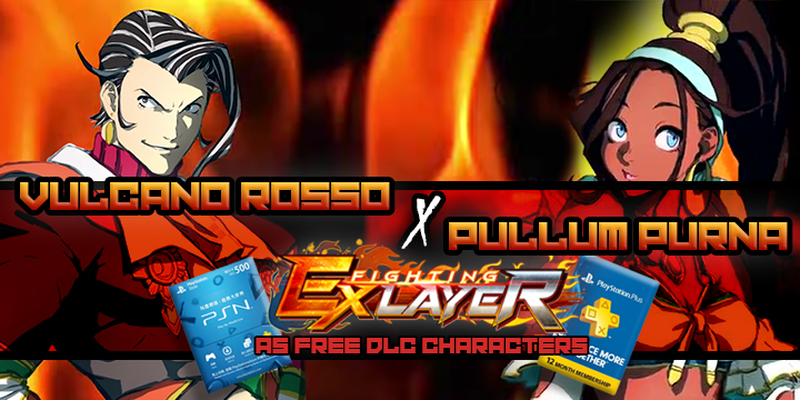 pullum purna and vulcano rosso will join fighting ex layer as free dlc characters pullum purna and vulcano rosso will