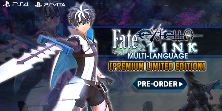 Fate/Extella Link, Fate/Extella Link (Multi-Language), Asia, PS Vita, PS4, gameplay, features, release date, price, trailer, screenshots