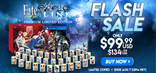 Fate/Extella Link [Premium Limited Edition], PlayStation 4, Japan, price, flash sale, gameplay, features