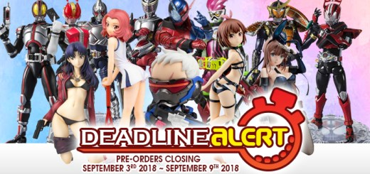 DEADLINE ALERT! Figure & Toy Pre-Orders Closing September 3rd – September 9th!