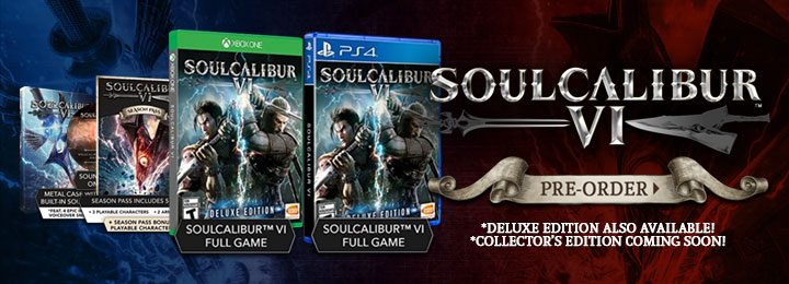 SoulCalibur VI, SoulCalibur, PS4, XONE, US, Europe, Australia, Japan, Asia, gameplay, features, release date, price, trailer, screenshots, sales, update