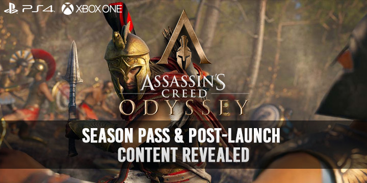 Assassin's Creed Odyssey, PlayStation 4, Xbox One, US, North America, Europe, Australia, Japan, release date, gameplay, trailer, price, features, Season Pass and Post Launch Trailer, Season Pass, Post-Launch Content, new trailer, update