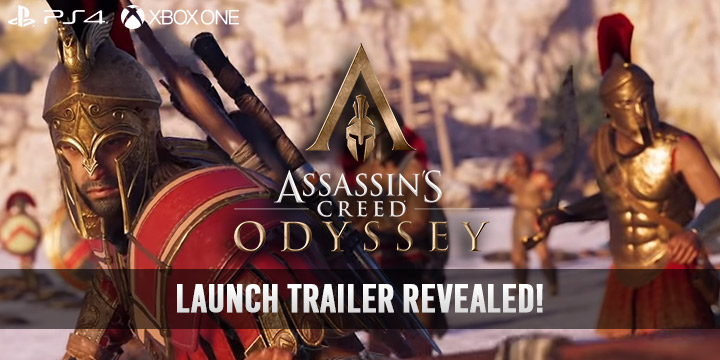 Assassin's Creed Odyssey, PlayStation 4, Xbox One, US, North America, Europe, Australia, Japan, release date, gameplay, trailer, price, features, new trailer, update, launch trailer, choose your fate, Ubisoft