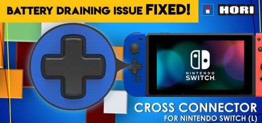 Mobile Mode Exclusive Cross Connector (L), Nintendo Switch, Hori D-Pad Controller, Hori D-Pad Controller battery draining issue, Hori, Battery draining issue fixed, Switch Update 6.0.0, Hori D-Pad Joy Con, Japan, features