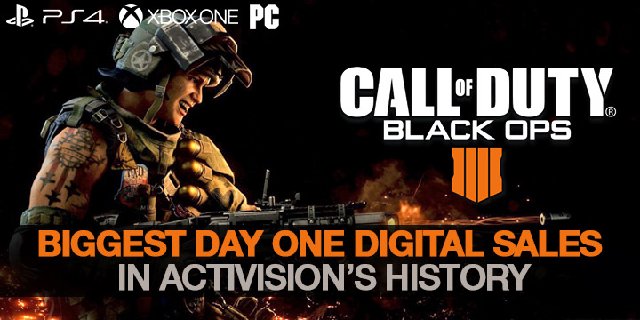 Call of Duty: Black Ops IIII, Call of Duty: Black Ops 4, Call of Duty, PlayStation 4, Xbox One, Windows PC, PC, US, North America, Europe, Japan, release date, gameplay, features, price, update, trailer, game, Treyarch, Activision, digital sales, sales