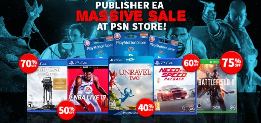 NBA Live 2k19: The One Edition, Battlefield 1, Unravel Two, Fe, Burnout Paradise Remastered, Publisher Sale, EA Sale, EA, PSN Store, PSN Store Sale, Sony, PlayStation, PlayStation 4, PSN October Sale