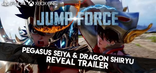 Jump Force, PlayStation 4, Xbox One, release date, gameplay, price, features, US, North America, Europe, new character, update, new trailer, Pegasus Seiya, Dragon Shiryu, Saint Seiya