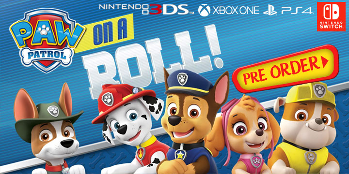 Paw Patrol On A Roll, Outright Games, PS4, XONE, Switch, 3DS, PlayStation 4, Xbox One, Nintendo Switch, Nintendo 3DS, US, Europe, Australia, gameplay, features, release date, price, trailer, screenshots