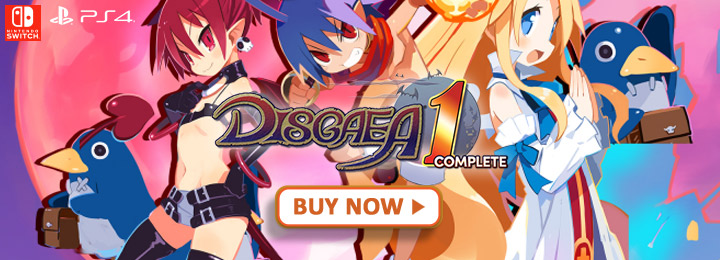 Disgaea, Disgaea 1 Complete, NIS America, PS4, Nintendo Switch, Switch, US, Europe, Ausralia, Western release, gameplay, features, trailer, screenshots, launch trailer