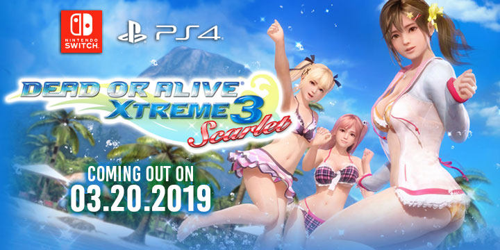 Dec 2018. Koei Tecmo released the first trailer for Dead or Alive Xtreme 3 Scarlet for PS4 and Switch, showcasing PS4s VR mode and Switchs Soft 4D.
