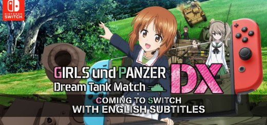 Girls und Panzer: Dream Tank Match DX, english subtitle, asia, japan, nintendo switch